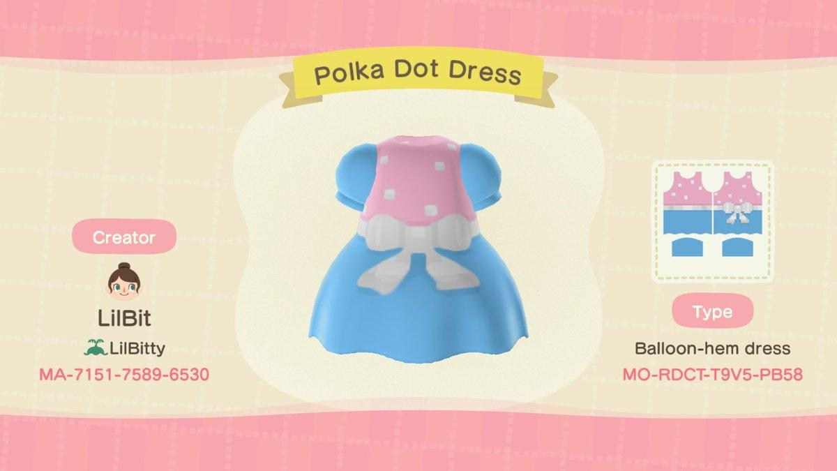 Polka Dot Dress - Animal Crossing: New Horizons Custom Design