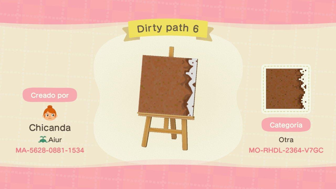 Dirty path 6 - Animal Crossing: New Horizons Custom Design