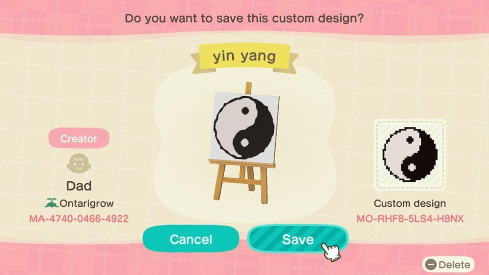 Yin Yang - Animal Crossing: New Horizons Custom Design