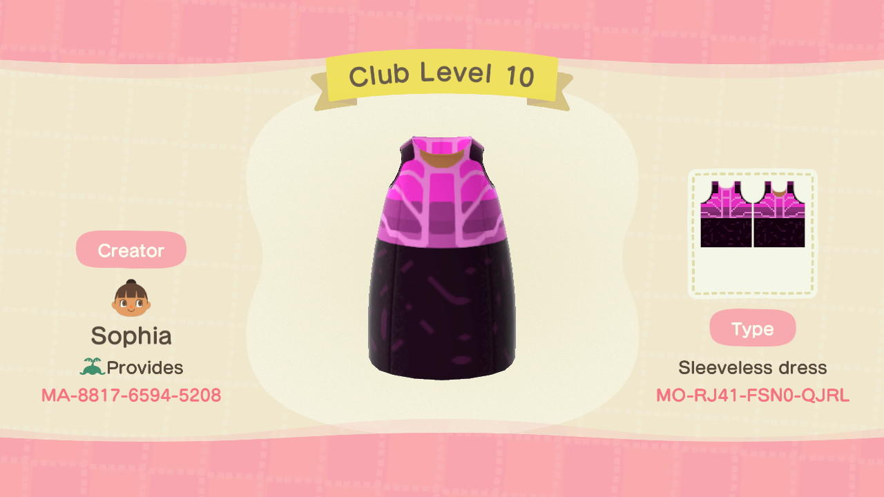 Club Level 10 - Animal Crossing: New Horizons Custom Design