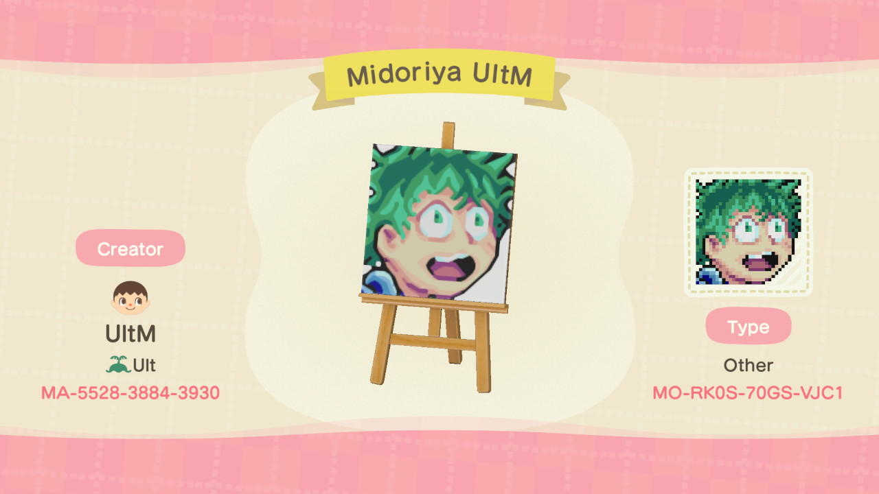 Midoriya UltM - Animal Crossing: New Horizons Custom Design