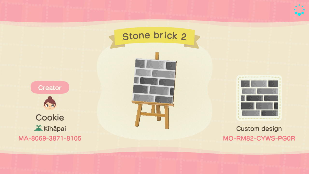 Stone Brick 2 Animal Crossing New Horizons Custom Design Nook S Island