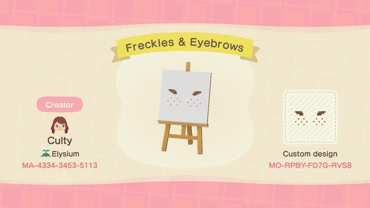Freckles & Eyebrows - Animal Crossing: New Horizons Custom Design