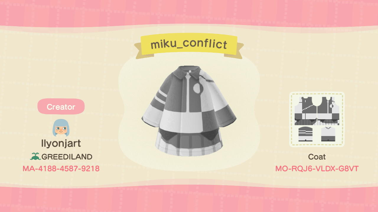 Miku Conflict - Animal Crossing: New Horizons Custom Design