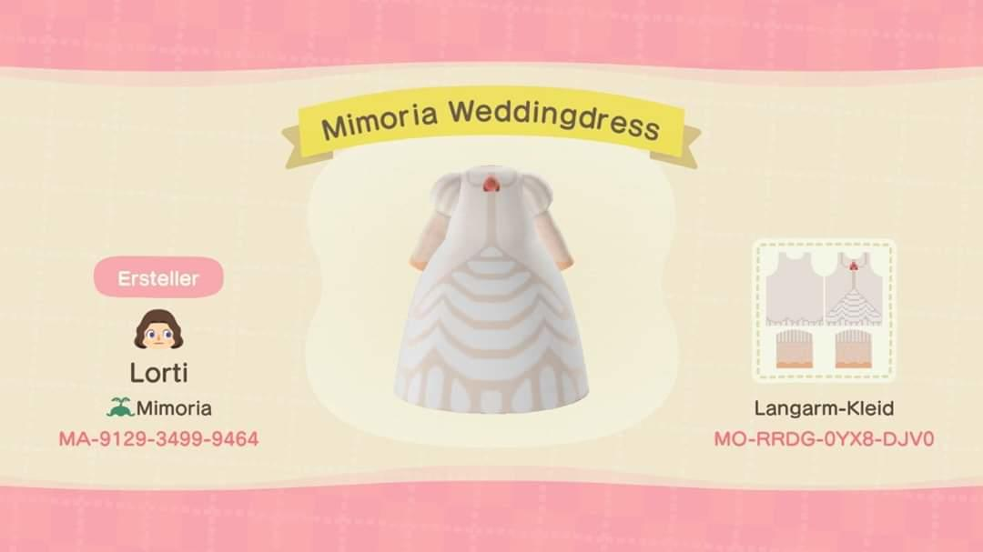 Mimoria Weddingdress - Animal Crossing: New Horizons Custom Design