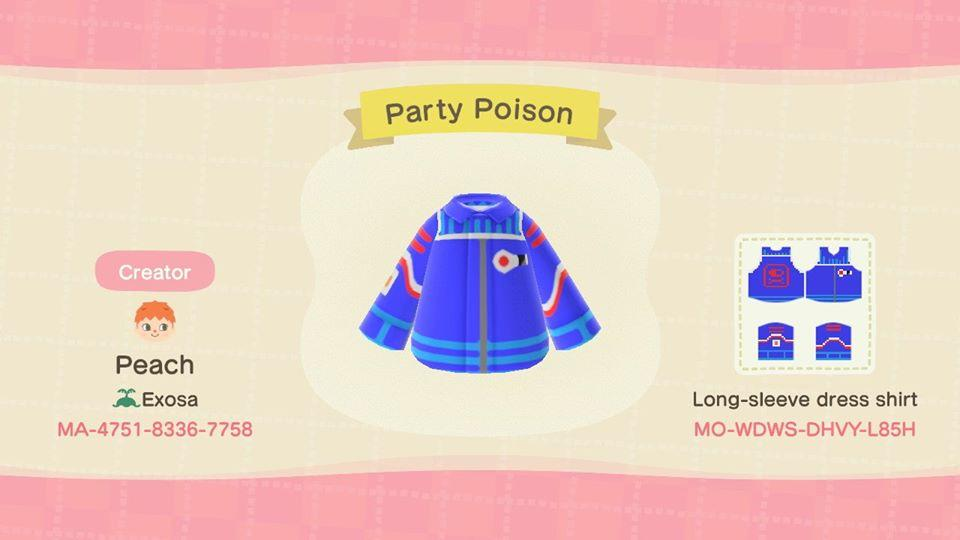 Party Poison Jacket - Animal Crossing: New Horizons Custom Design
