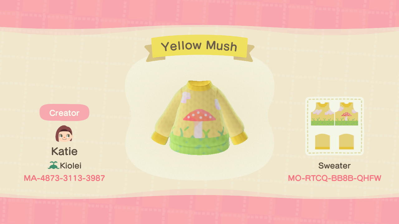 Yellow Mush - Animal Crossing: New Horizons Custom Design