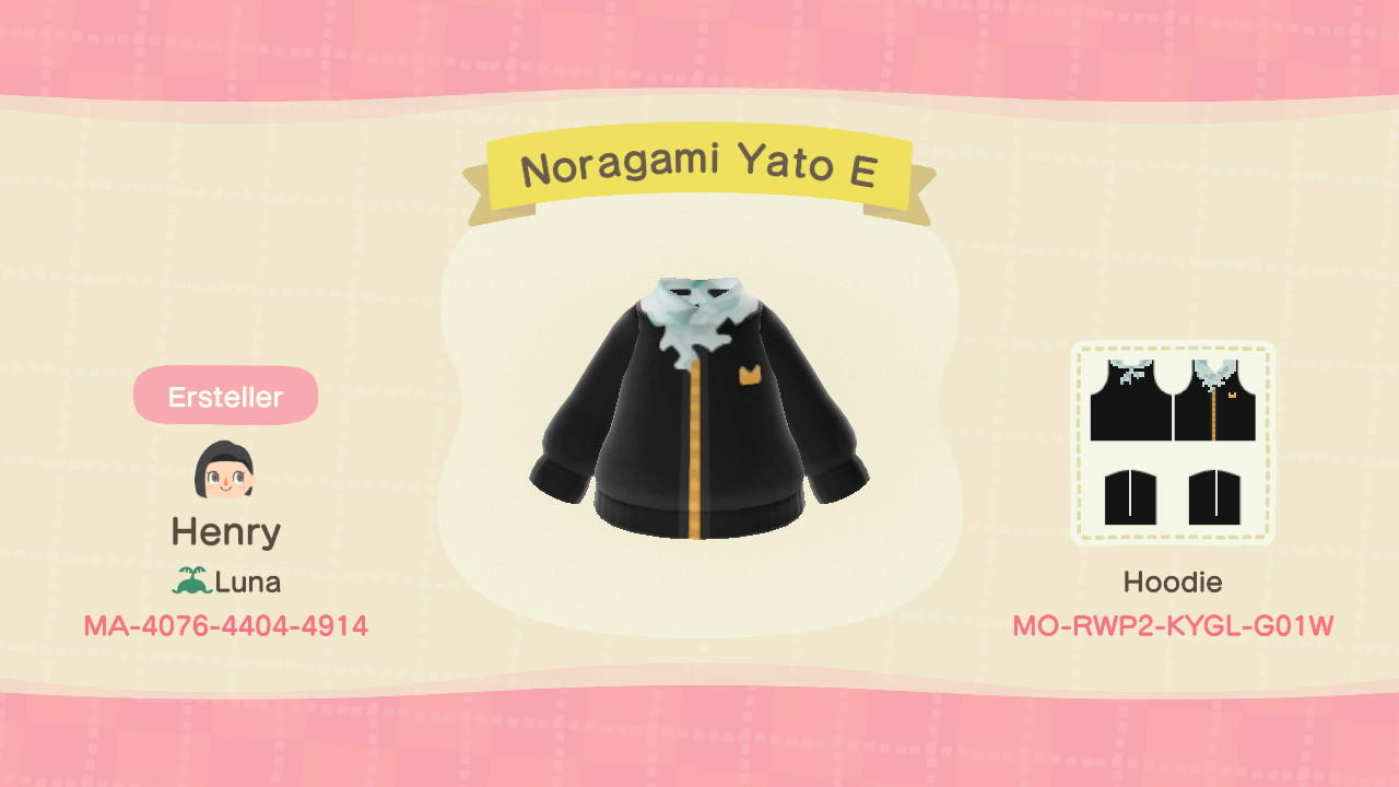 Noragami Yato - Animal Crossing: New Horizons Custom Design