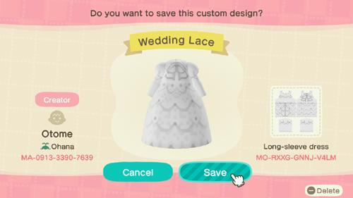 Wedding Lace - Animal Crossing: New Horizons Custom Design