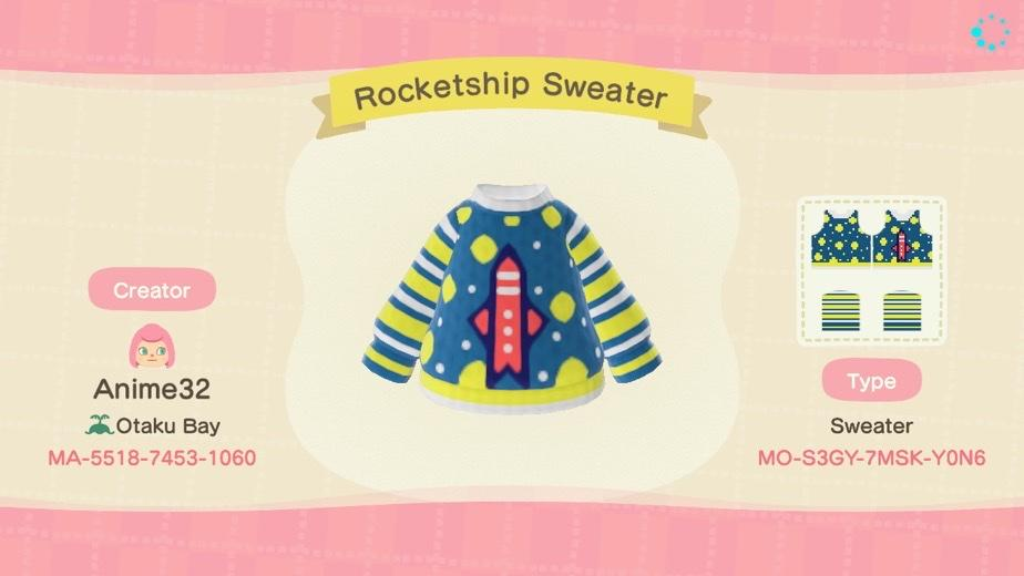Rocketship Sweater - Animal Crossing: New Horizons Custom Design