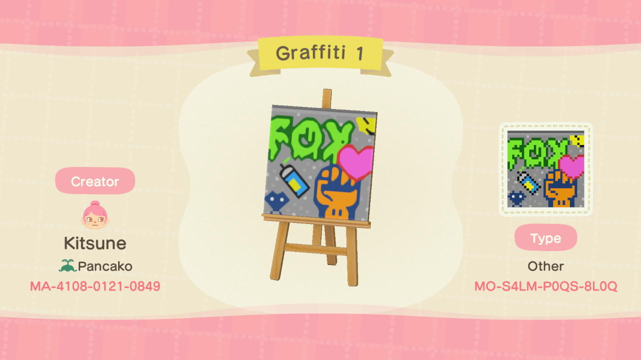 Graffiti 1 - Animal Crossing: New Horizons Custom Design