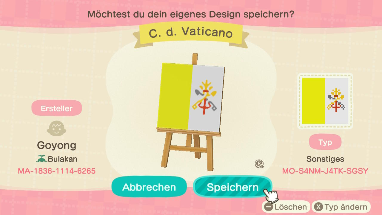 Vatican City - Animal Crossing: New Horizons Custom Design