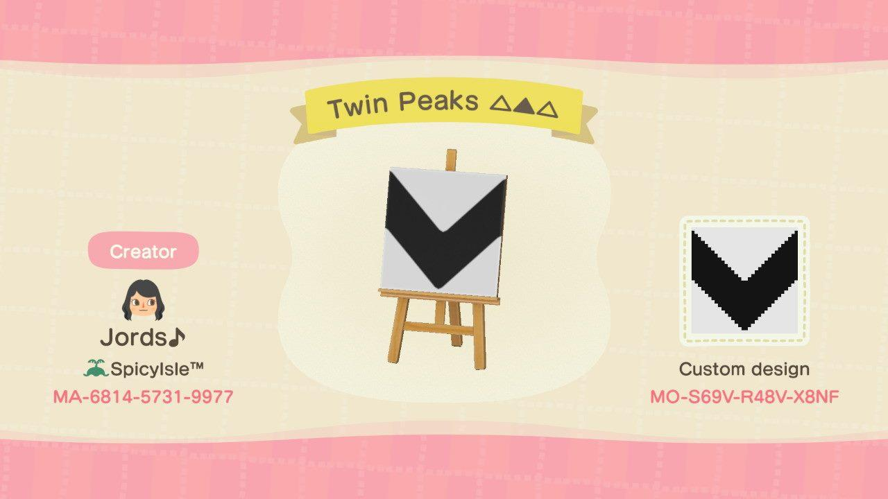 Twin Peaks Pattern - Animal Crossing: New Horizons Custom Design