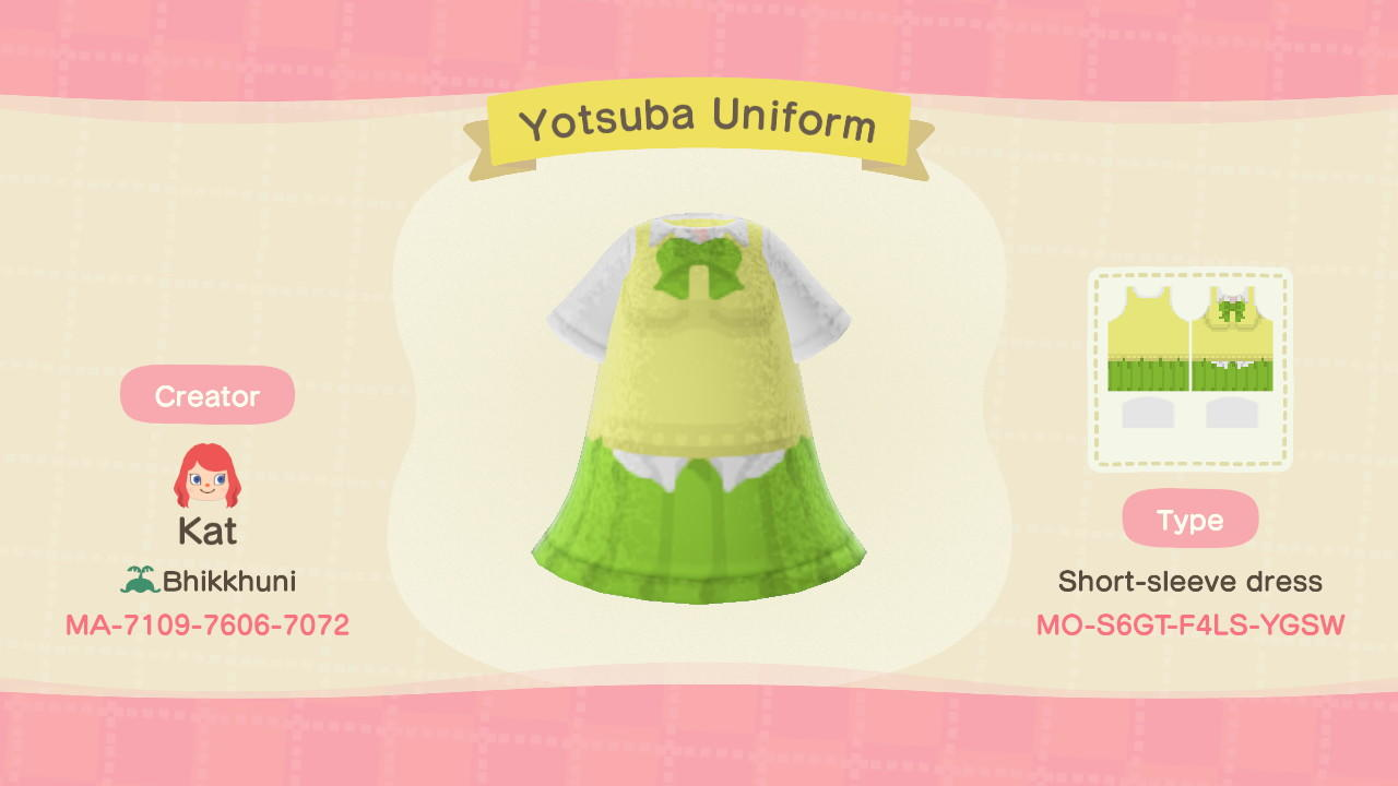 Yotsuba Nakano - Animal Crossing: New Horizons Custom Design