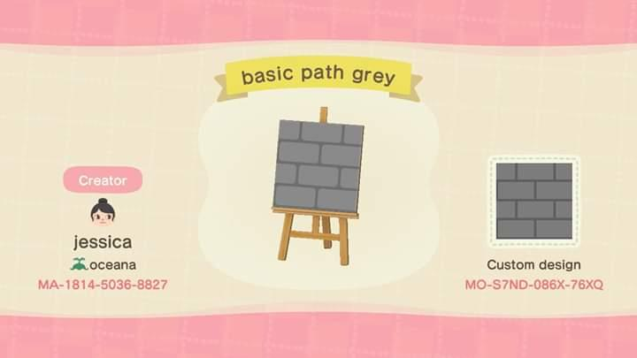 basic gray path - Animal Crossing: New Horizons Custom Design