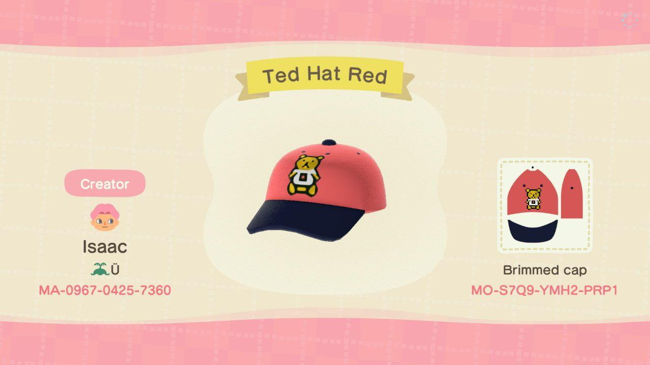 Ted Hat Red - Animal Crossing: New Horizons Custom Design