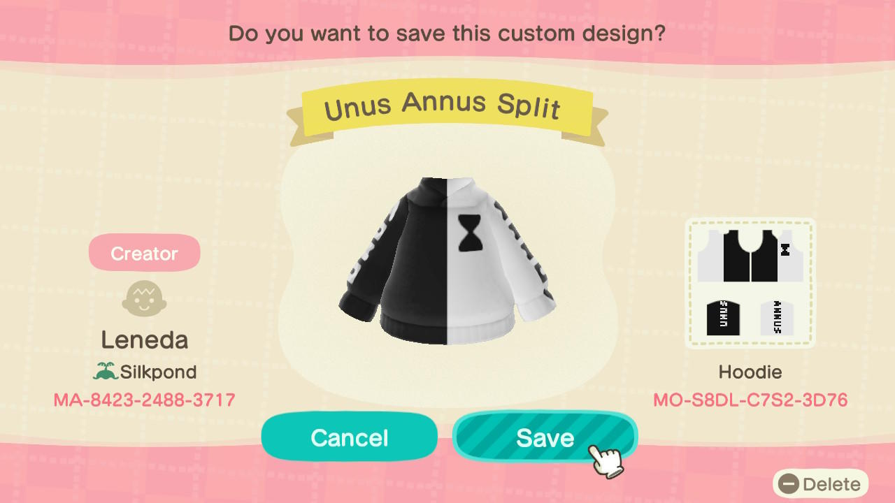 Unus Annus Split - Animal Crossing: New Horizons Custom Design