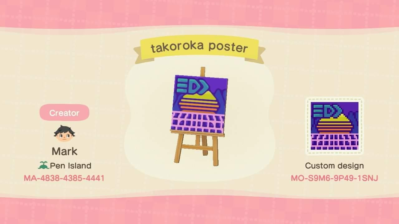 Takoroka poster - Animal Crossing: New Horizons Custom Design