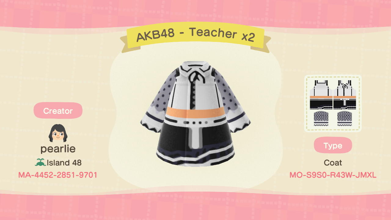 TeacherTeacher-AKB48 - Animal Crossing: New Horizons Custom Design