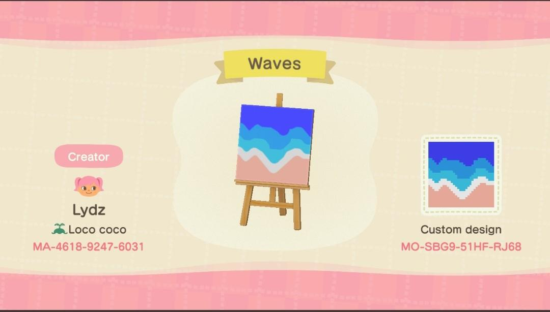 Waves - Animal Crossing: New Horizons Custom Design