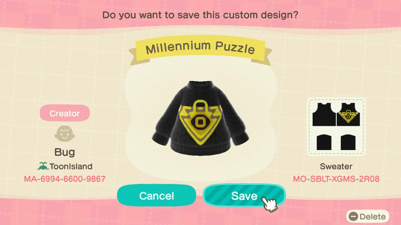 Millennium Puzzle - Animal Crossing: New Horizons Custom Design