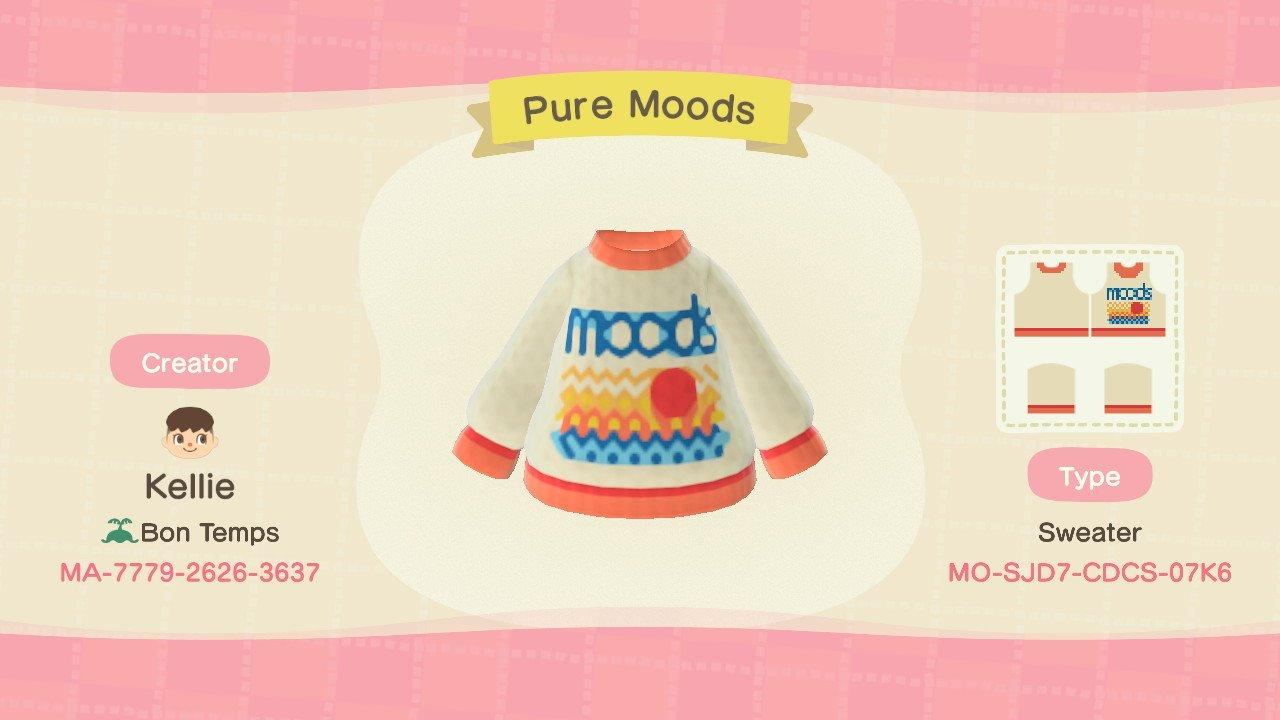Pure Moods Sweater - Animal Crossing: New Horizons Custom Design