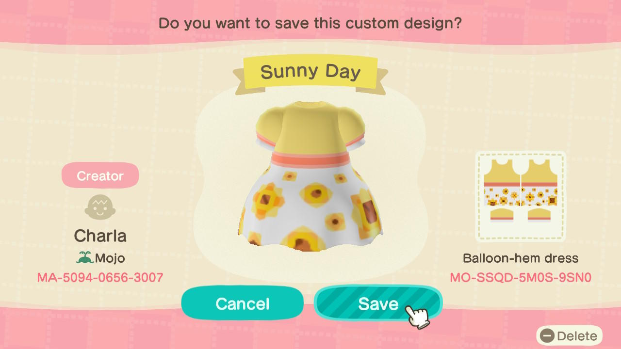 Sunny Day - Animal Crossing: New Horizons Custom Design
