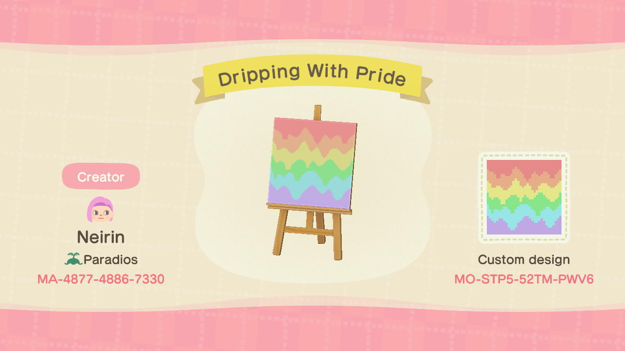 Dripping With Pride - Animal Crossing: New Horizons Custom Design