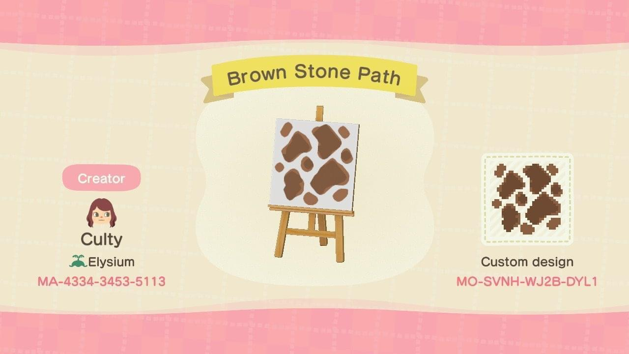 Brown Stone Path - Animal Crossing: New Horizons Custom Design