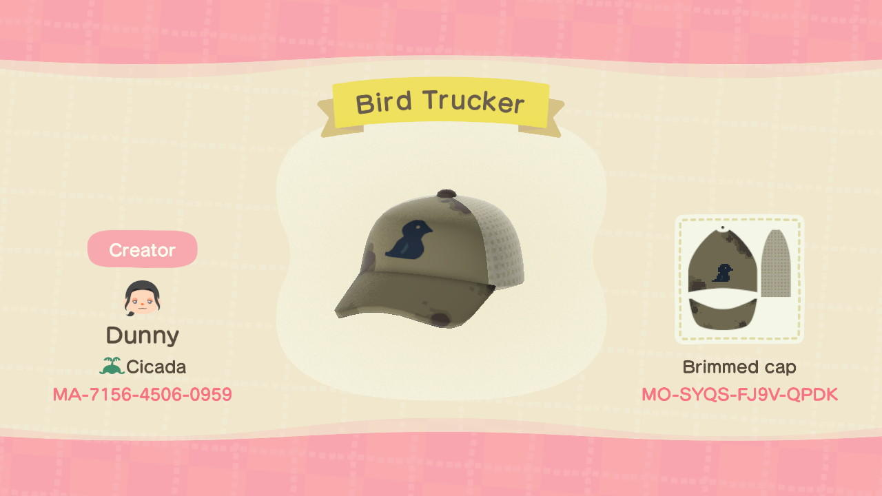 Bird Trucker Hat - Animal Crossing: New Horizons Custom Design