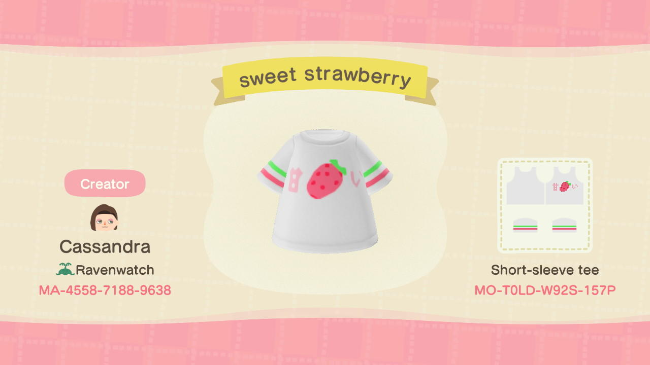 sweet strawberry - Animal Crossing: New Horizons Custom Design