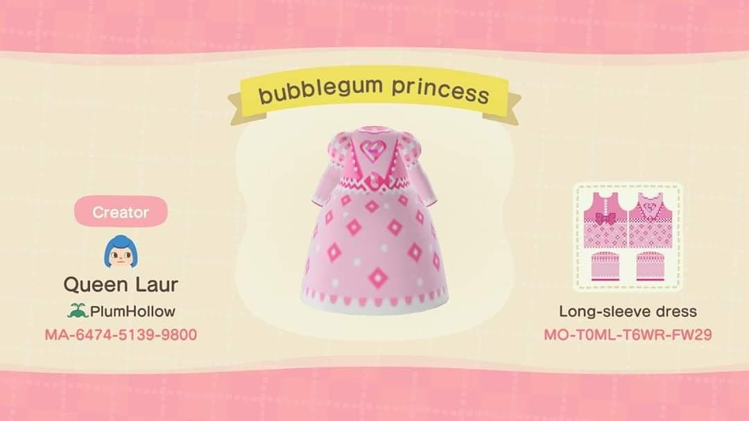Bubblegum Princess - Animal Crossing: New Horizons Custom Design