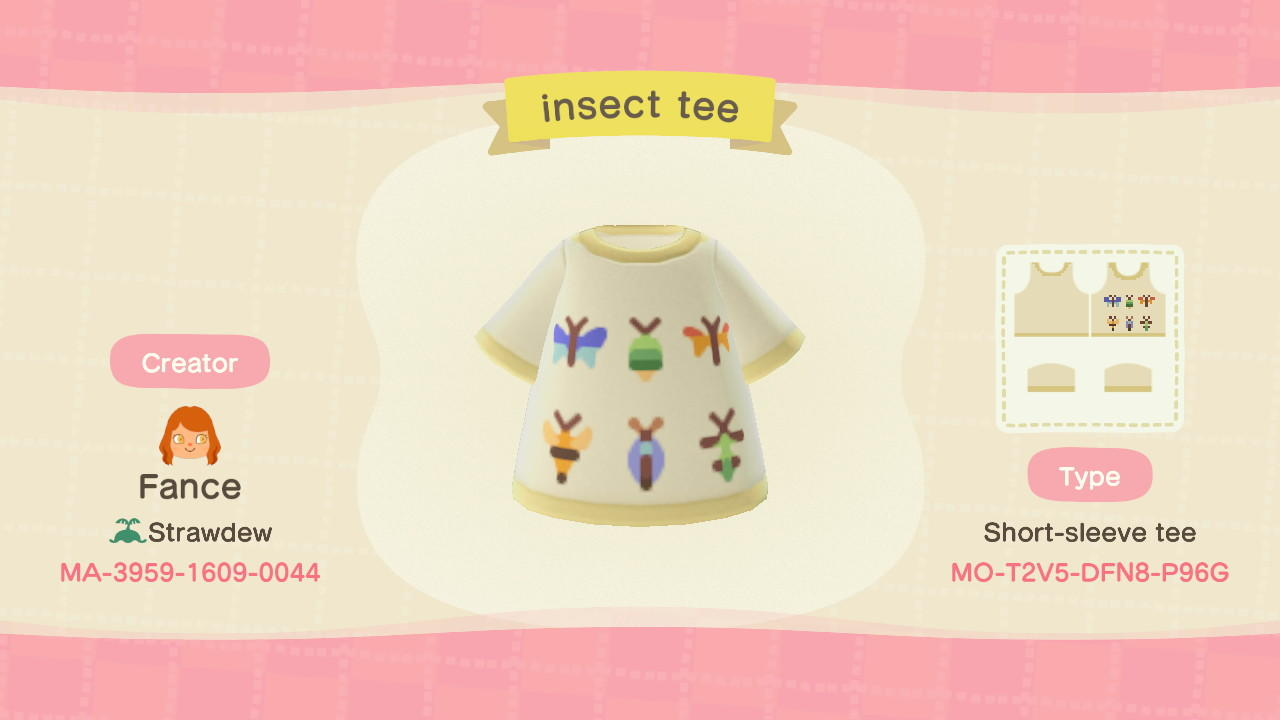 Insect Tee - Animal Crossing: New Horizons Custom Design