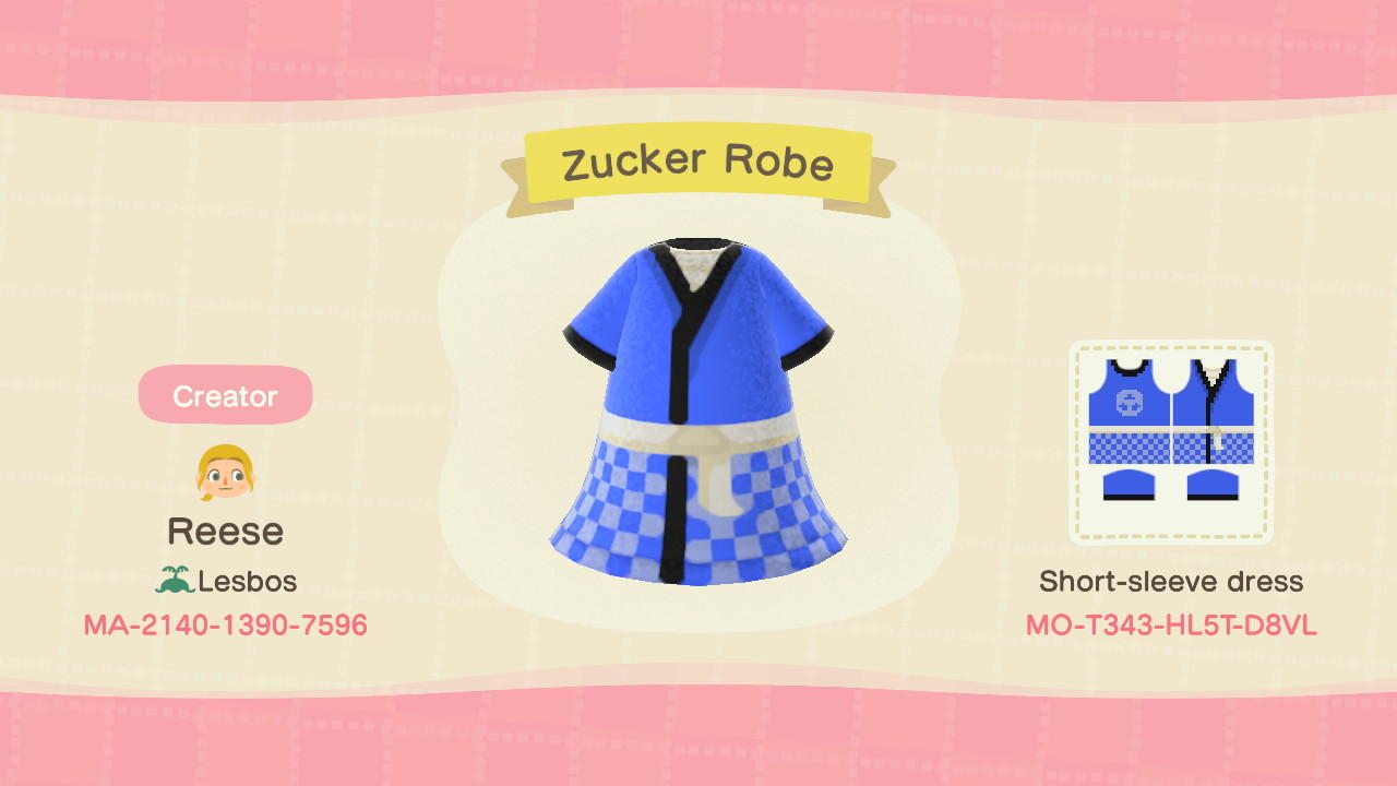 Zucker Robe - Animal Crossing: New Horizons Custom Design