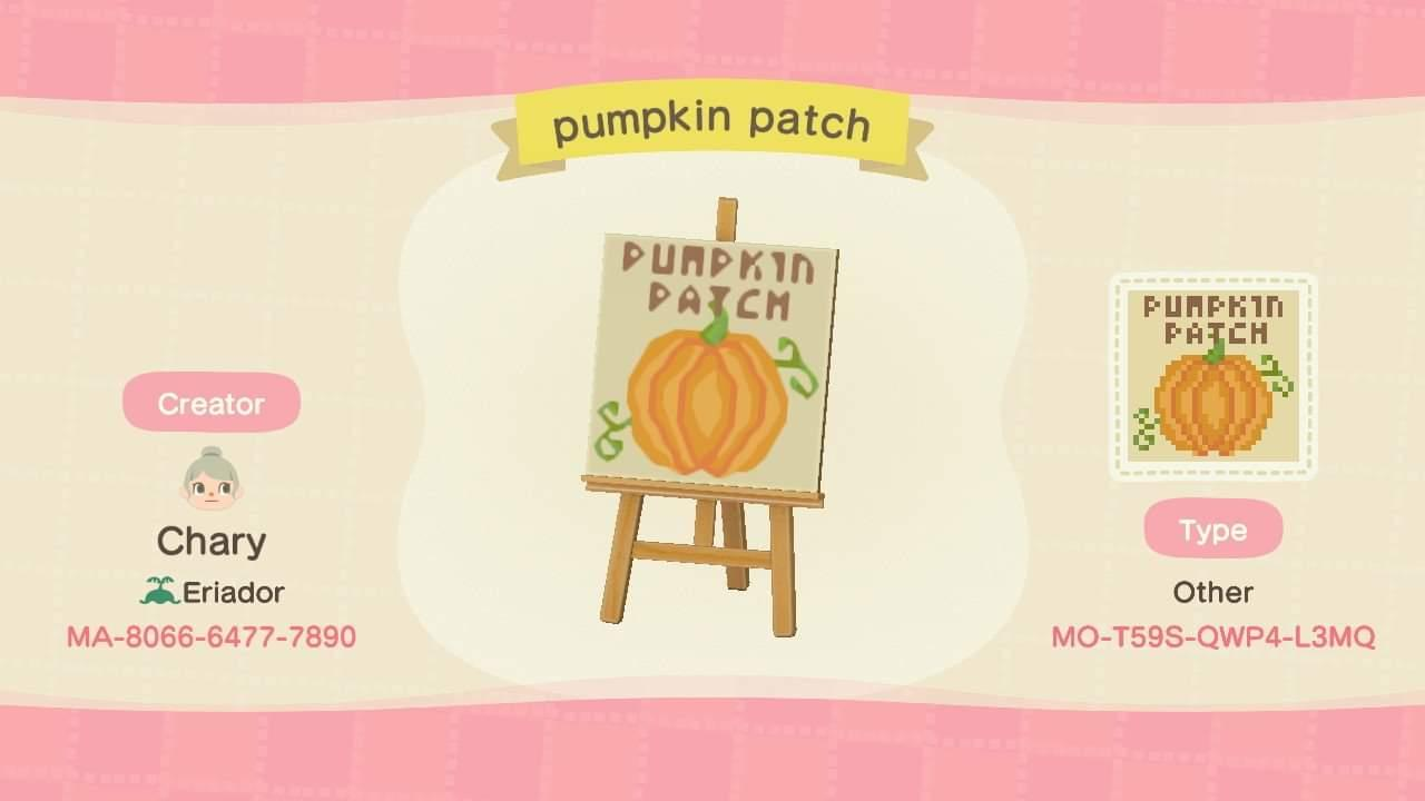Pumpkin patch - Animal Crossing: New Horizons Custom Design