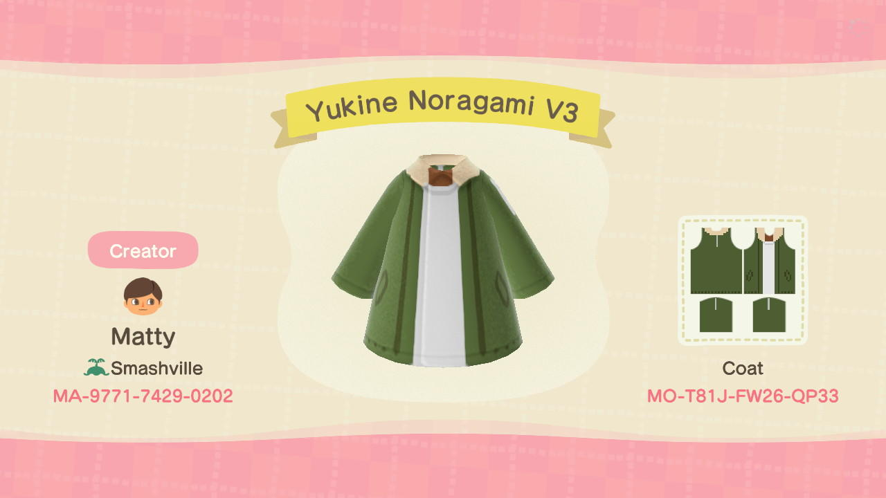 Yukine Noragami V3 - Animal Crossing: New Horizons Custom Design