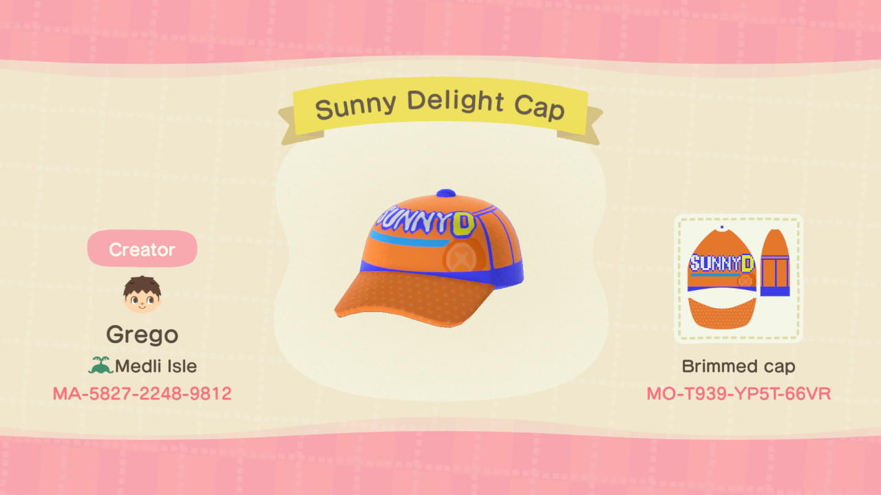 Sunny Delight Cap - Animal Crossing: New Horizons Custom Design