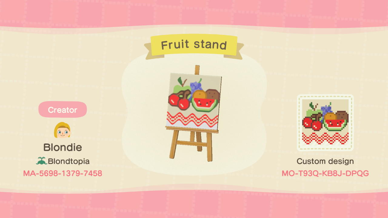 Fruit stand - Animal Crossing: New Horizons Custom Design