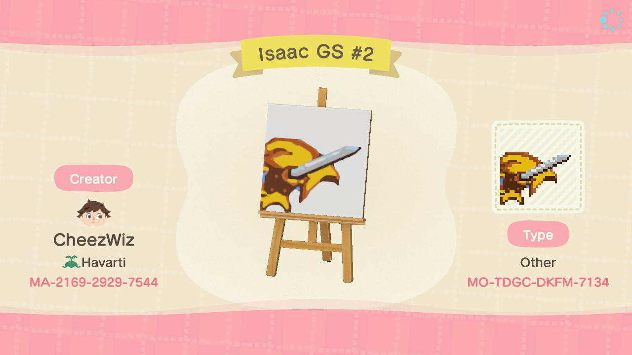 Isaac Golden Sun #2 - Animal Crossing: New Horizons Custom Design
