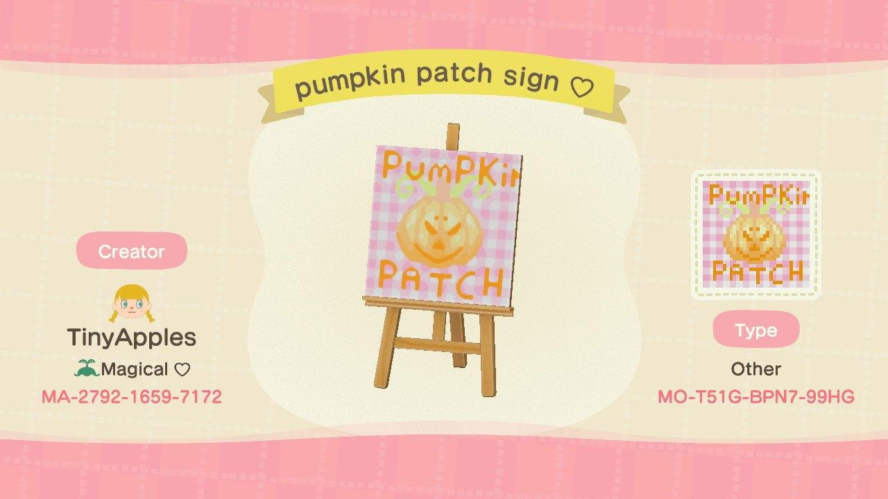 pumpkin patch sign - Animal Crossing: New Horizons Custom Design