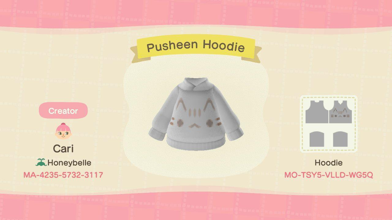 Pusheen Hoodie - Animal Crossing: New Horizons Custom Design