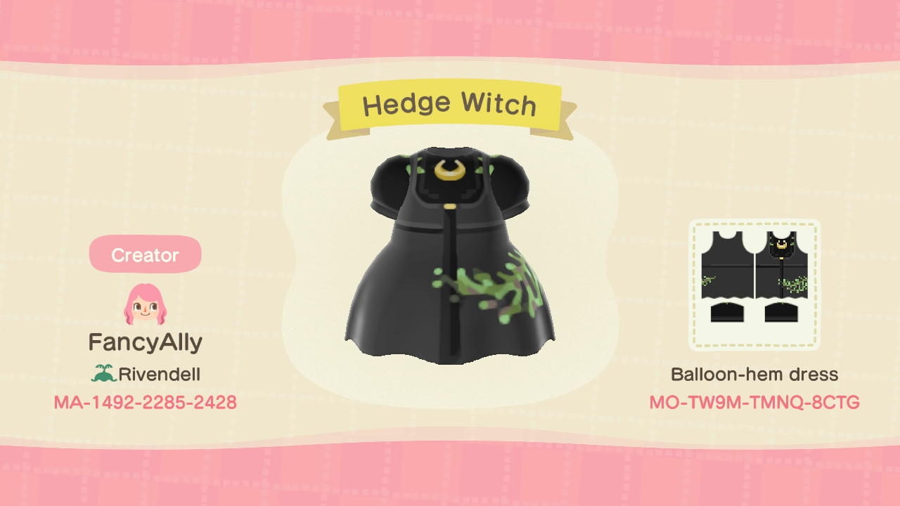 Hedge Witch Dress - Animal Crossing: New Horizons Custom Design