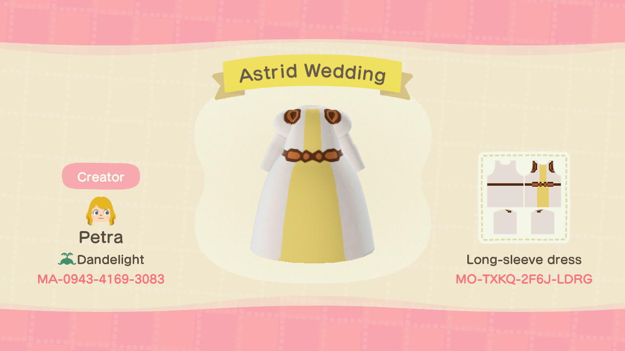 Astrid Wedding - Animal Crossing: New Horizons Custom Design
