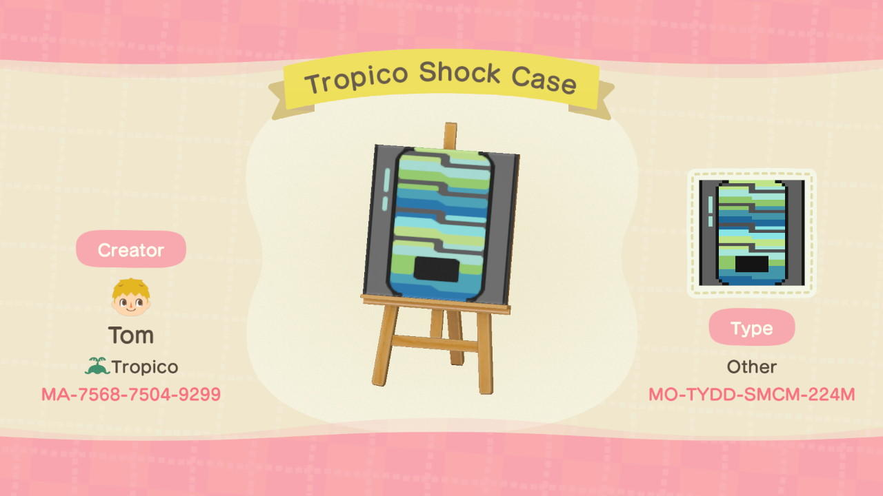 Tropico Shock Case - Animal Crossing: New Horizons Custom Design