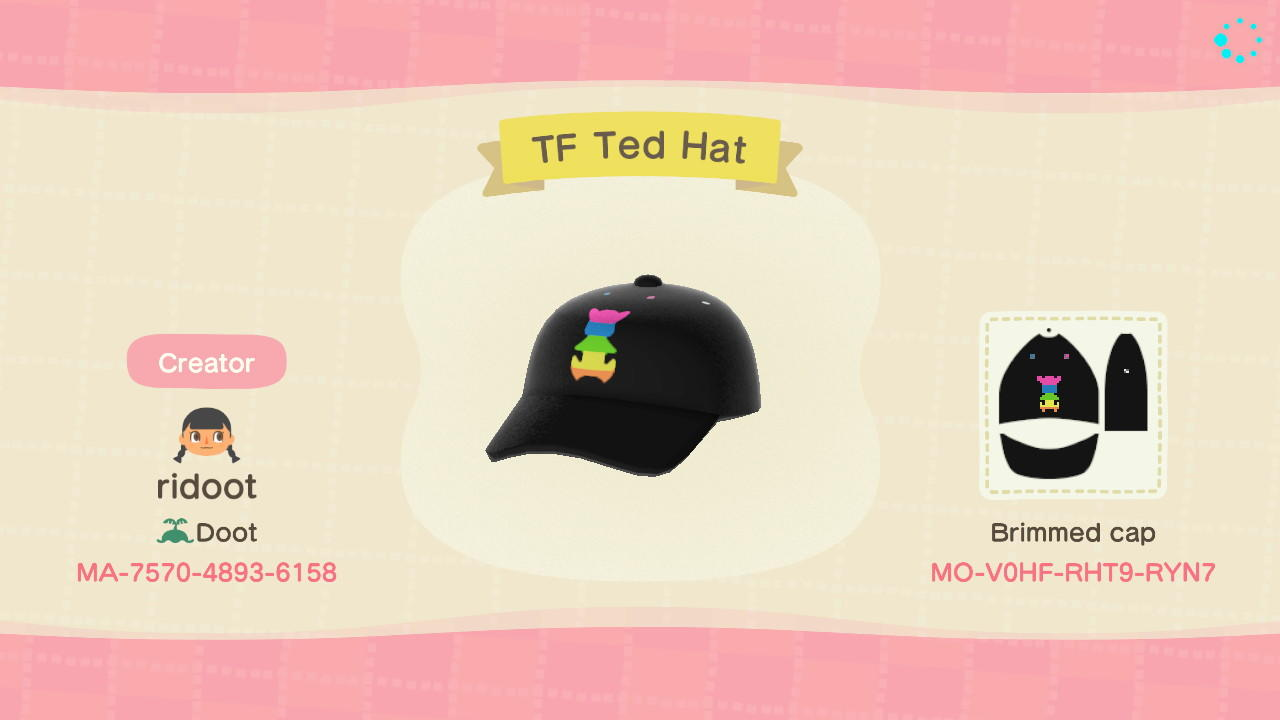 TF Ted Had - Animal Crossing: New Horizons Custom Design