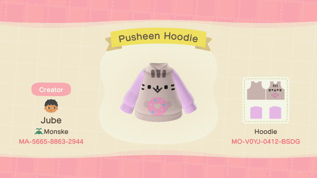 Pusheen - Animal Crossing: New Horizons Custom Design