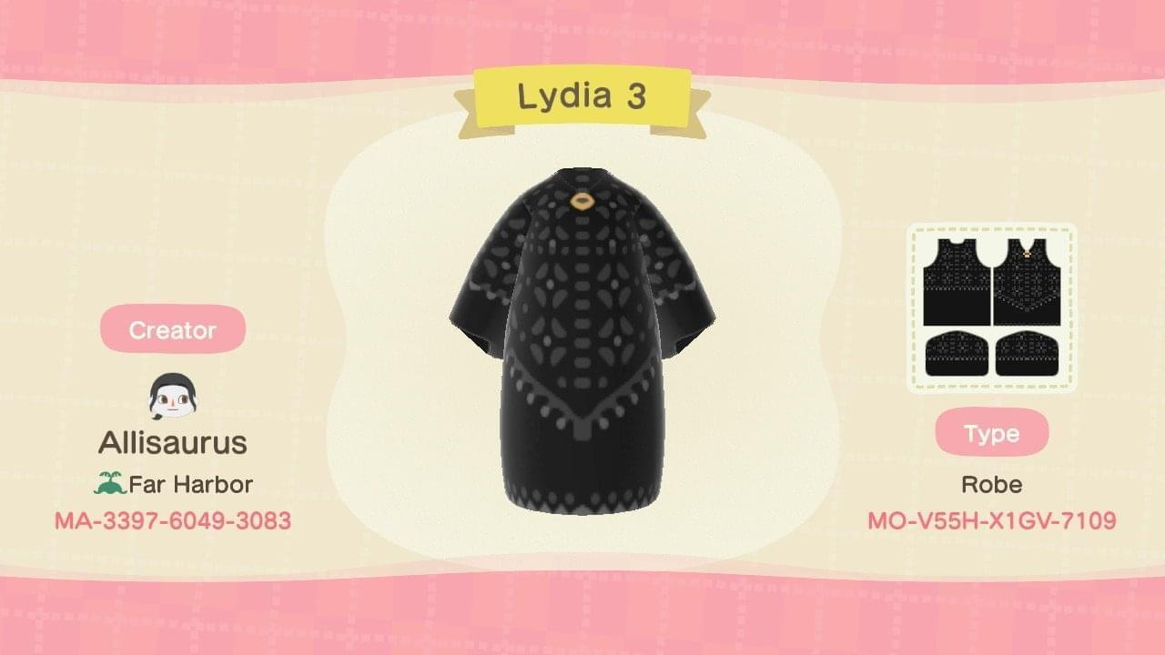 Lydia Beetlejuice - Animal Crossing: New Horizons Custom Design