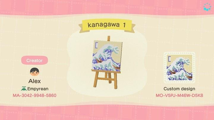 kanagawa 1 - Animal Crossing: New Horizons Custom Design