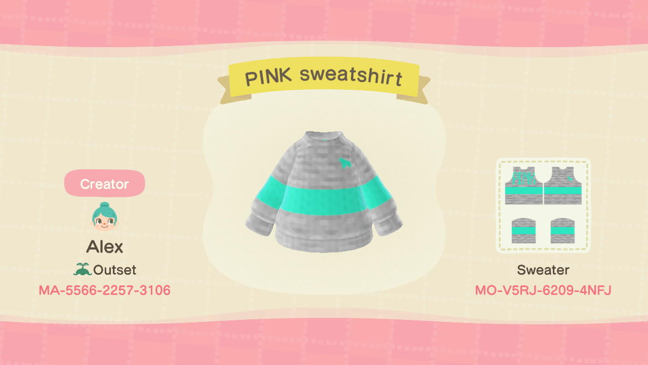 PINK sweatshirt - Animal Crossing: New Horizons Custom Design