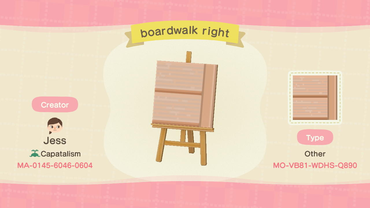 boardwalk right - Animal Crossing: New Horizons Custom Design